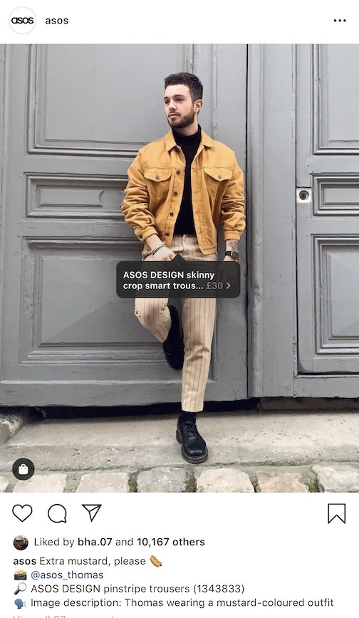 product promotion example on instagram post